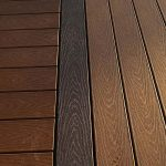 Deck made from Trex composite decking material