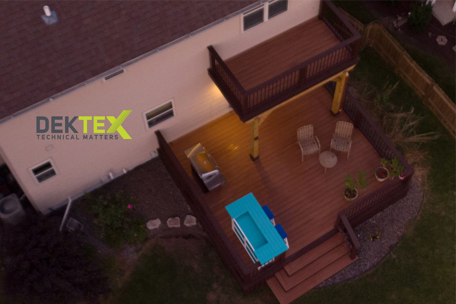 Two story deck made with Trex decking