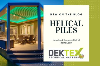 Helical Piles DekTex Deck Footings